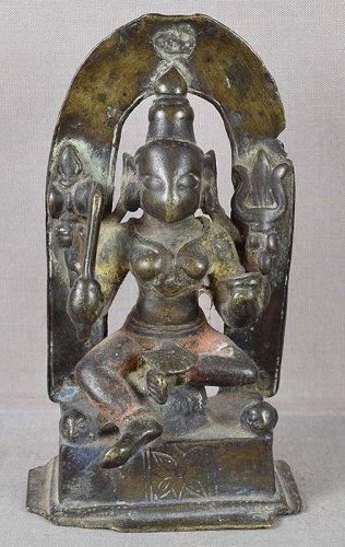 18c Indian bronze GODDESS DURGA