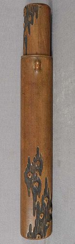 19c Japanese KISERUZUTSU pipe holder TREE TRUNK