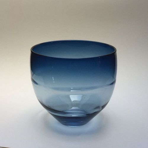Don Gonzalez Steel-blue Glass Wrap Bowl