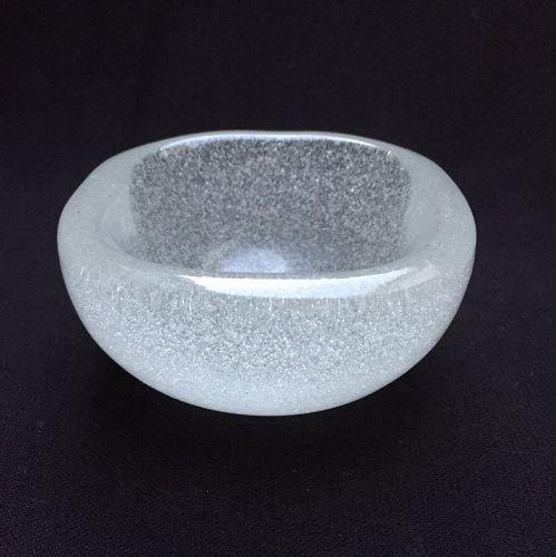 "Carlo Scarpa Vintage Murano Glass Bowl ""A Bollicine"" with  Acid Stamp"