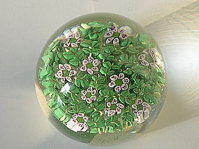 Vintage Fratelli Toso Murrine Paperweight