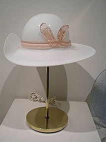 Mid-Century Murano Glass Hat Lamp