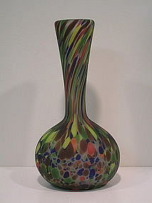 Murano Glass polychrome vase by Fratelli Toso