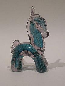 Murano glass stylized donkey by Ercole Barovier