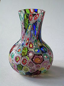 Vintage Murano Fratelli Toso Windows Murrine Vase