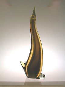 Vintage Murano stylized  waterbird by Archimede Seguso