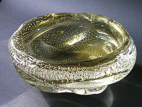 Modern Murano Glass Bowl attr.  Flavio Poli for Seguso