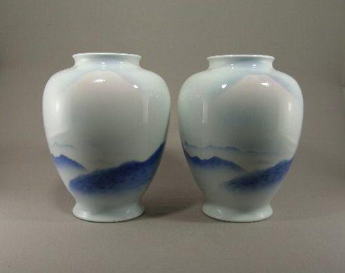 Japanese Porcelain Fukagawa vase Circa 1960
