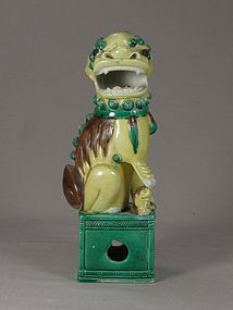 Chinese Porcelain Sancai Foo Dog Circa 1920