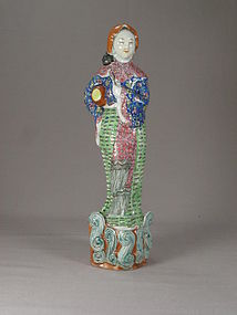 Chinese export Porcelain Maiden Figurine Circa 1920