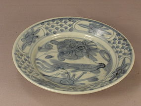 Chinese Blue and White Porcelain Swatow Dish Circa 1600