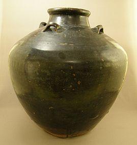 Chinese Temmoku Martaban Tea Jar Circa 14th Century
