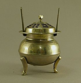 Korean Brass Incense Burner Circa 1930