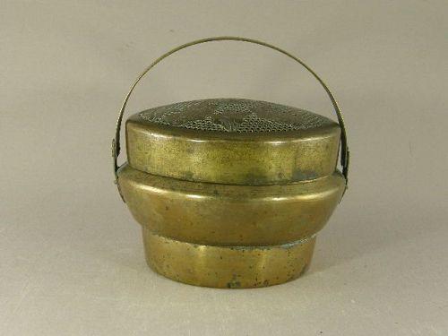 Chinese Brass Handwarmer Circa 1900