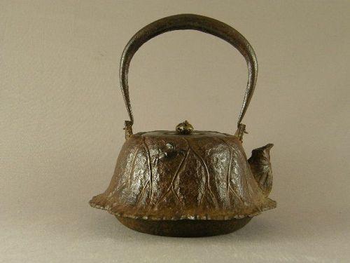 Japanese Iron Tetsubin By Ryubundo Meiji Period