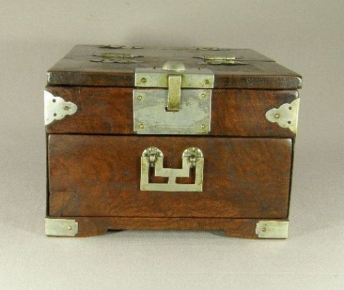 Korean Paulownia Wood Mirror Box 19th Century