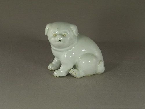 Japanese Hirado Ware Porcelain Puppy Water Dropper Circa 1900