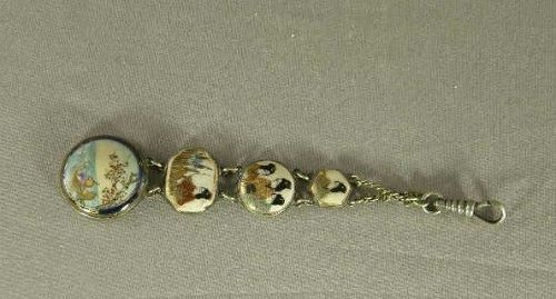 Japanese Satsuma Watch Fob Marked Circa 1900