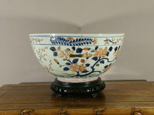 Japanese Porcelain Imari Bowl Repaired 17th/18th Century