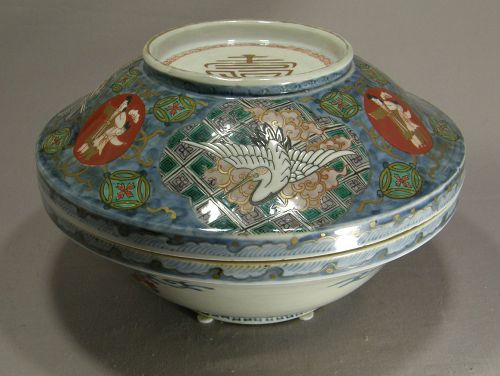 Japanese Porcelain Imari Tureen 19th Century