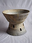 Large Korean Silla Dynasty Mounted Bowl