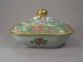 Chinese Porcelain Rose Mandarin Tureen Circa 1850