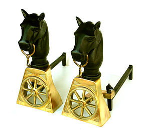 Horse Andirons