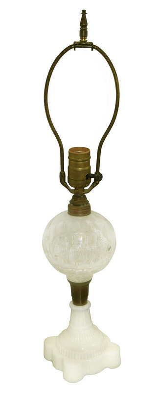 Sandwich Glass Lamp