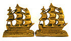 Pair Of Solid Cast Brass Bookends