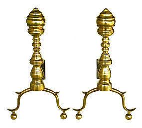 Brass Andirons