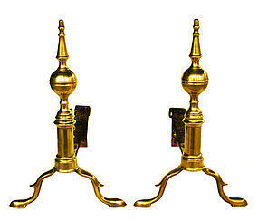 Steeple Top Andirons