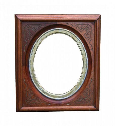 Antique Victorian Walnut Picture Frame