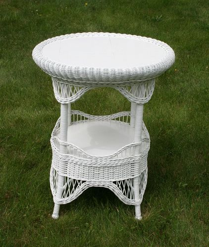 Exceptional Antique Wicker Table