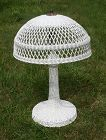 Antique Wicker Table Lamp