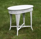 Antique Oval Wicker Table