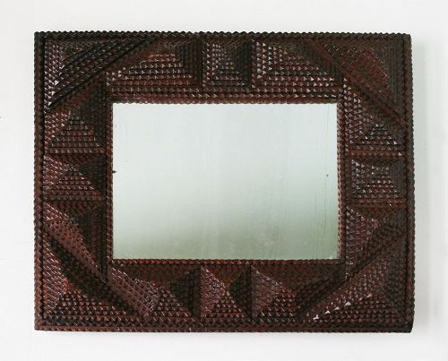 Antique Tramp Art Frame/Folk Art