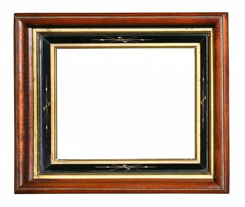 Antique Victorian Walnut Picture Frame