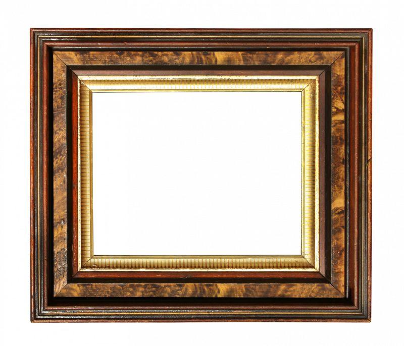 Antique Victorian Birch Stained Walnut Picture Frame
