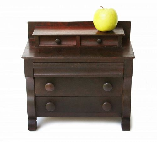 Antique American Empire Miniature/Salesman's Sample Chest of Drawers