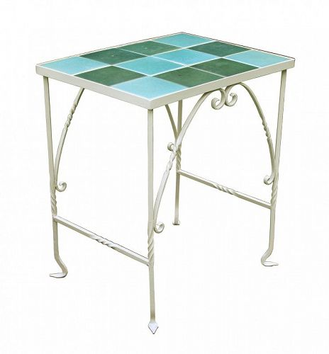 Vintage Wrought Tile Top Table