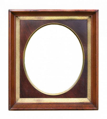 "Exceptional Antique Victorian Walnut & Gold Leaf Frame, 9"" X 11"" openi"