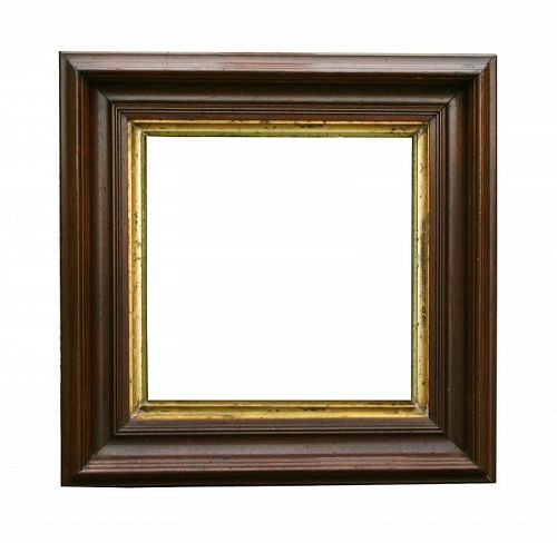 "Antique Victorian Walnut Picture Frame, 10"" X 10"" opening at rear"