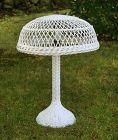 Antique Wicker Table Lamp, Circa 1910