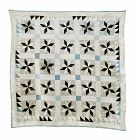 "Antique Hand Stitched Quilt 8 Pointed Star, 80"" X 82"""