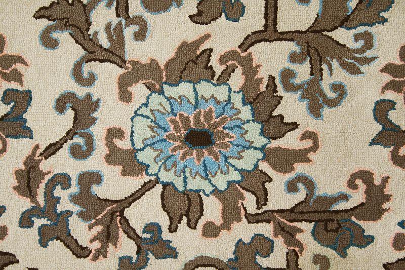 Antique/Vintage Hand Hooked Rug, Wool on Burlap