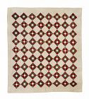 "Antique Quilt, Nine Patch, 76"" X 68"""