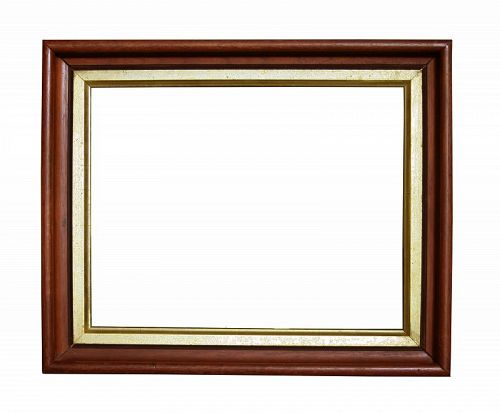 """Antique Victorian Walnut Picture Frame, 8"""" X 10"""" opening at rear"""