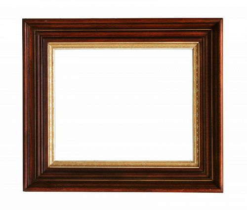 """Antique Victorian Walnut LARGE Picture Frame, Holds 16"""" X 13"""""""