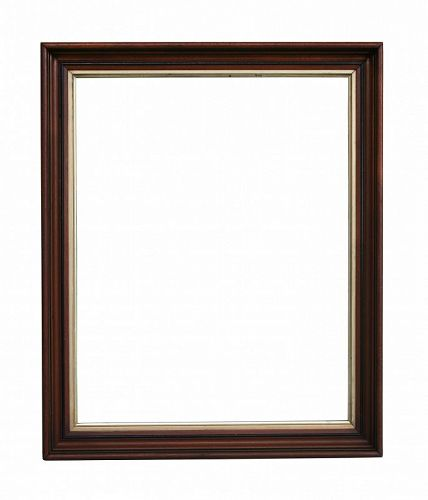 Antique Victorian Walnut LARGE Picture Frame, with OLD GLASS