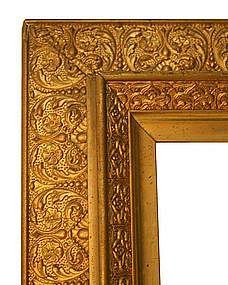 Original Gilded Molded Gesso & Gold Leaf Frame
